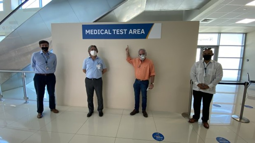 Curacao Airport Medical Test Area